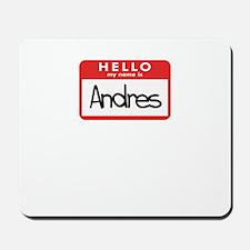 Hello Andres Mousepad