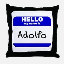 hello my name is adolfo  Throw Pillow