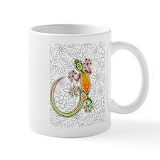 Gecko Floral Tribal Art Mugs
