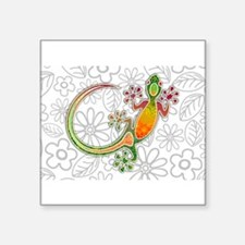 Gecko Floral Tribal Art Sticker