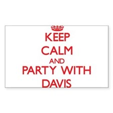 Keep calm and Party with Davis Decal