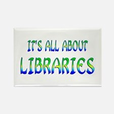 About Libraries Rectangle Magnet