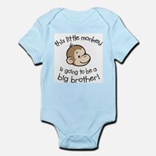 Big Brother to be - Monkey Face Body Suit