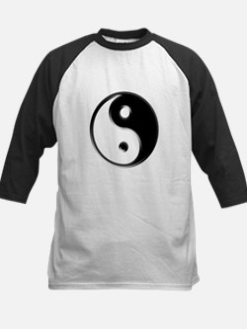 Shiny Black Yin Yang Symbol Baseball Jersey