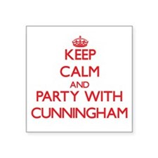 Keep calm and Party with Cunningham Sticker