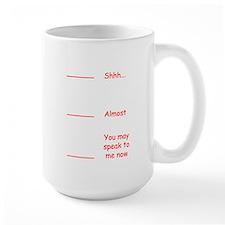 Coffee measuring cup funny permission t Ceramic Mugs