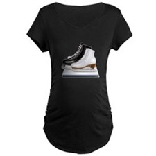 Figure Skating Skates Maternity T-Shirt