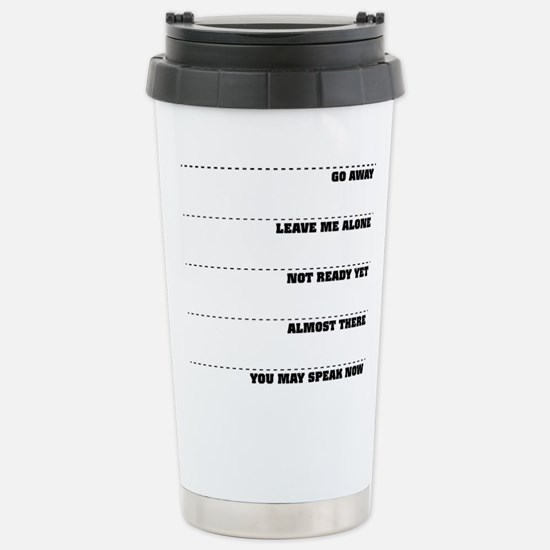 Coffee Mug Tollerance Scale Travel Mug