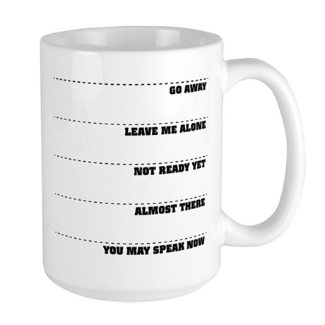 Coffee Tollerance Scale Large Mug