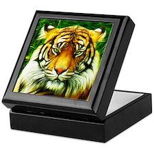 Tiger is Not Amused Keepsake Box