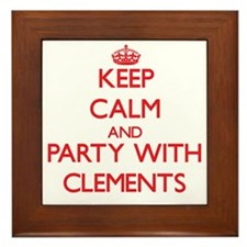 Keep calm and Party with Clements Framed Tile