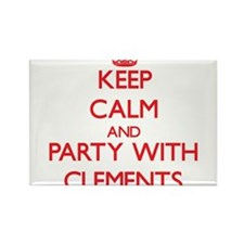 Keep calm and Party with Clements Magnets