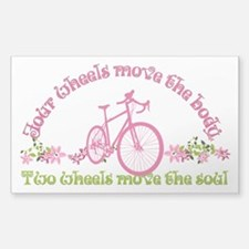 Two wheels move the soul Decal