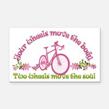 Two wheels move the soul Rectangle Car Magnet