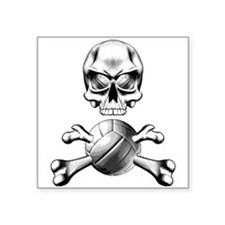 Volleyball Skull Rectangle Sticker