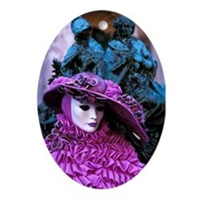 Purple Hat Ornament (Oval)