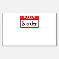 Hello Brandon Rectangle Decal