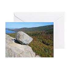 Bubble Rock At Acadia National Park Greeting Card