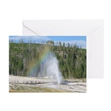 Beehive Geyser At Yellowstone Greeting Card