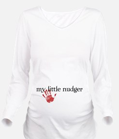My Little Nudger 2 Long Sleeve Maternity T-Shirt
