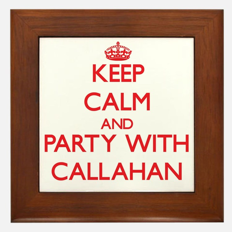 Keep calm and Party with Callahan Framed Tile