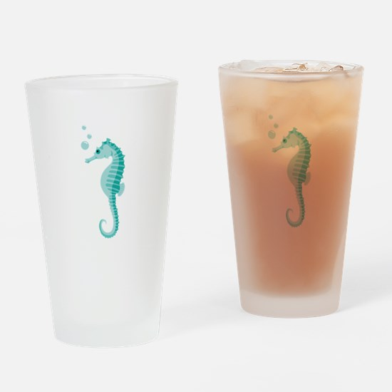 Sea Horse Drinking Glass
