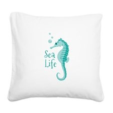 Sea Life Square Canvas Pillow