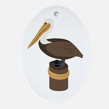 Brown Pelican Ornament (Oval)