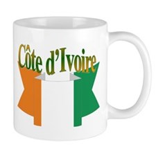 Ivory coast flag ribbon Mug