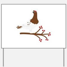 Willow Ptarmigan Yard Sign