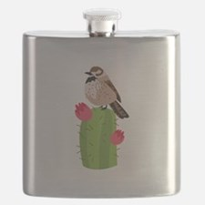 Cactus Wren Flask