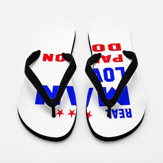 Real Man Love Papillon Dog Flip Flops