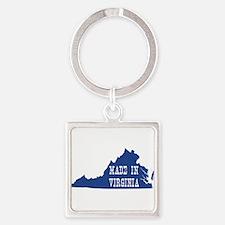 Virginia Square Keychain