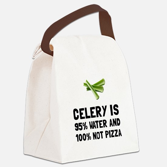 Celery Not Pizza Canvas Lunch Bag