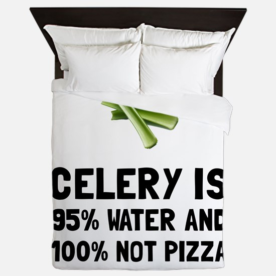 Celery Not Pizza Queen Duvet