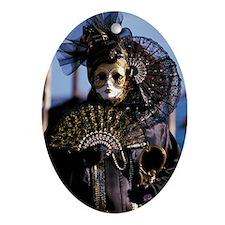 Venetian mask Ornament (Oval)
