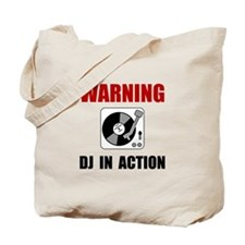DJ In Action Tote Bag