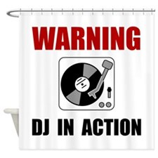 DJ In Action Shower Curtain