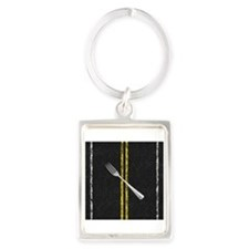 Fork In Road Keychains