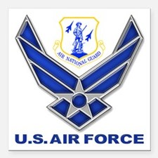 "Air National Guard Square Car Magnet 3"" X 3"""