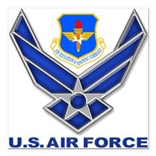 "Air Education Command Square Car Magnet 3"" x 3"""