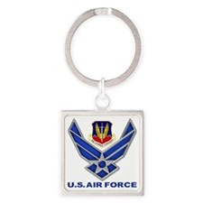 Air Combat Command Square Keychain