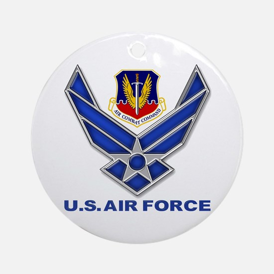 Air Combat Command (round) Round Ornament