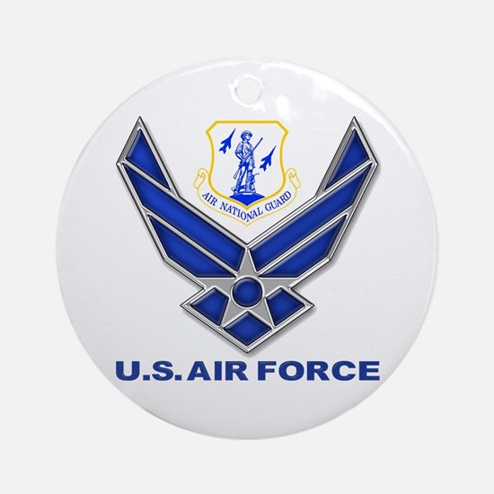 Air National Guard (round) Round Ornament