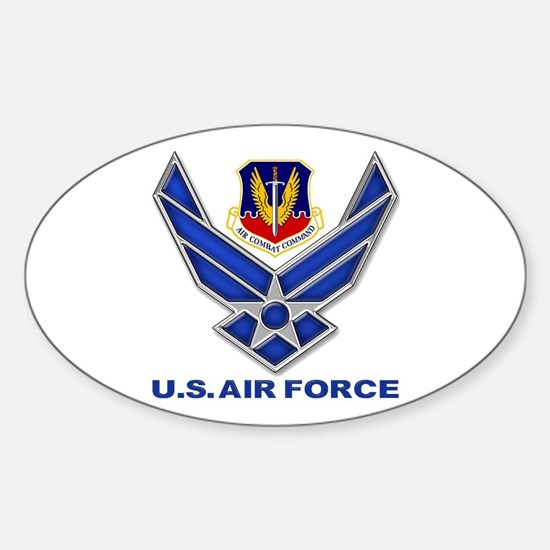Air Combat Command Sticker (Oval)