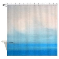 Diamond Head Clouds Painting Shower Curtain
