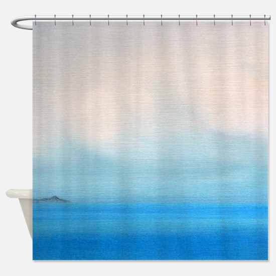 Diamond Head Clouds Painting Shower Curtain