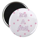 Pink and White New Baby Girl Magnet