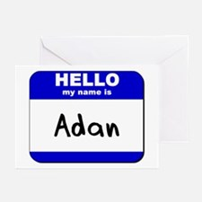 hello my name is adan  Greeting Cards (Package of