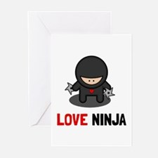 Love Ninja Greeting Cards